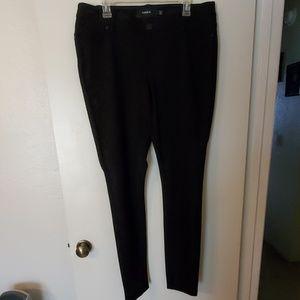 Torrid button up poly pants 14xt